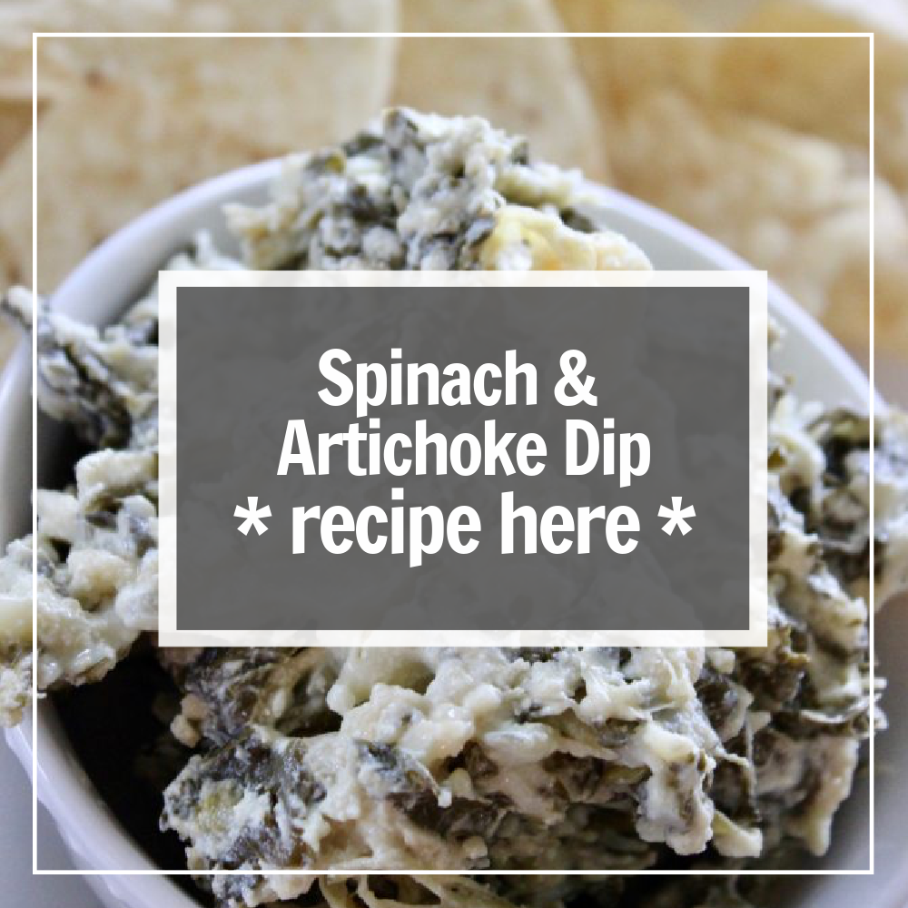 spinach and artichoke dip recipe here