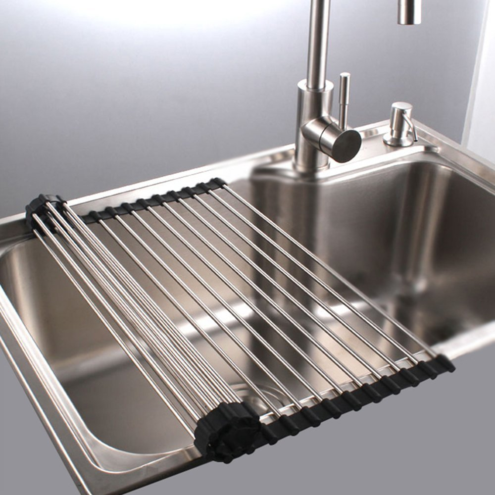 Great Price On Roll Up Stainless Steel Dish Drying Rack