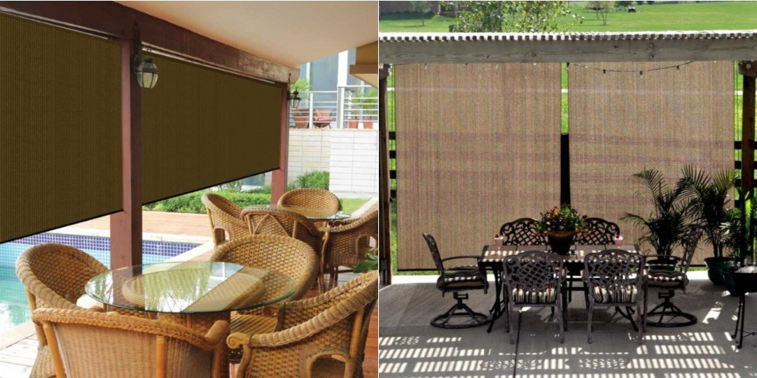 Coolaroo Outdoor Cordless Roller Shade Was