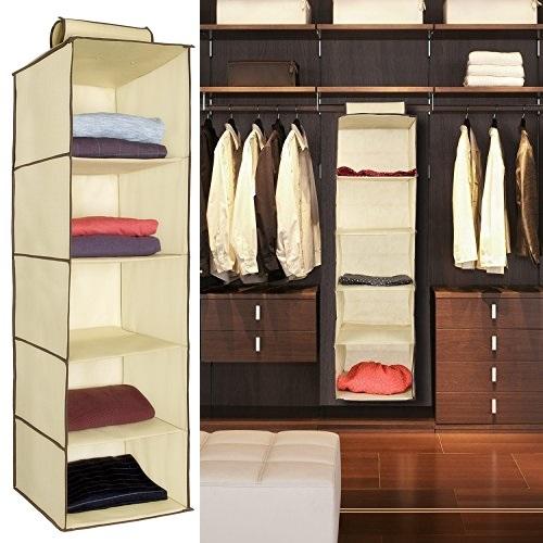 Hanging 5 Shelf Clothes Storage Organizer