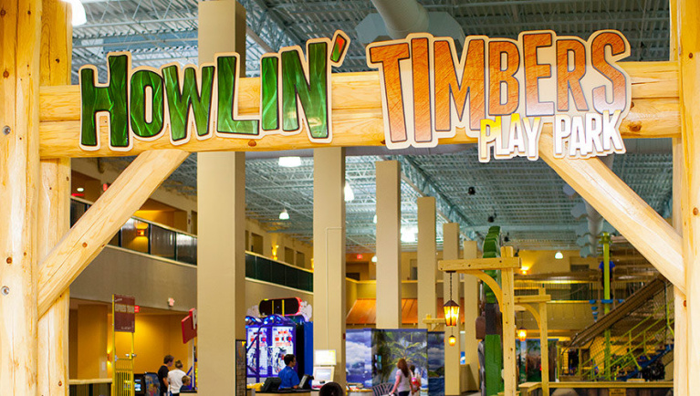 the Howlin Timbers park at Great Wolf Lodge