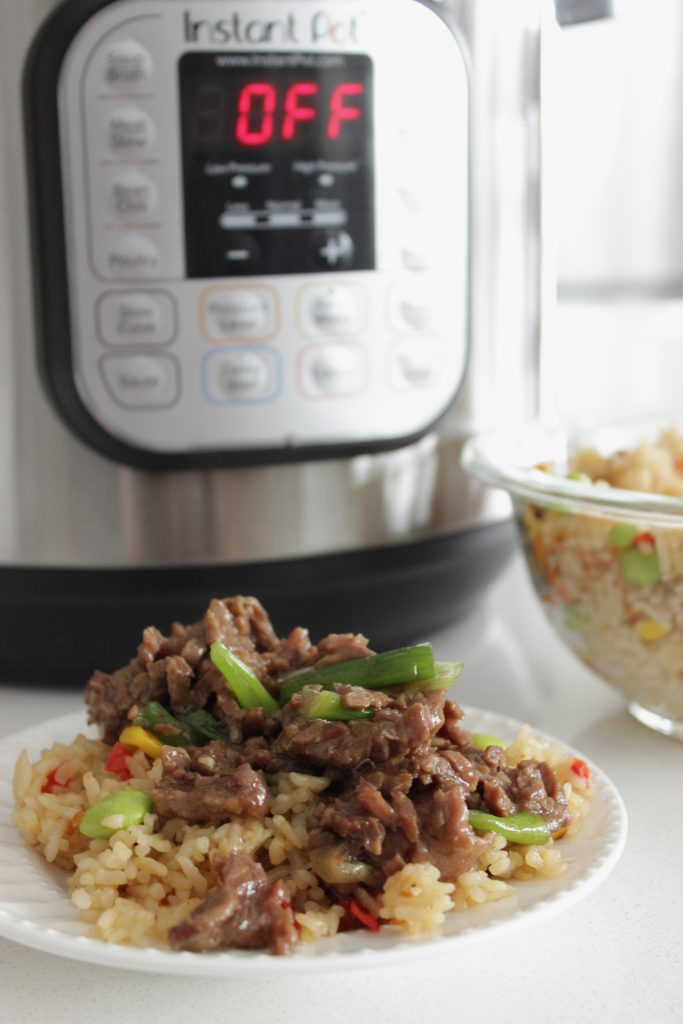 This Mongolian Beef Recipe is less sweet than another Beef pressure cooker recipe that I had tried