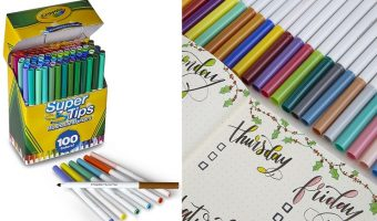 Crayola 100 Count Super Tips Washable Markers $9.36 (reg. $17.99)