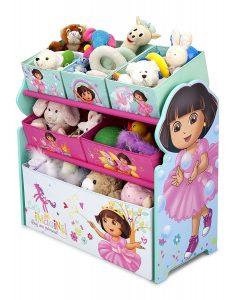 Dora The Explorer Multi-Bin Toy Organizer
