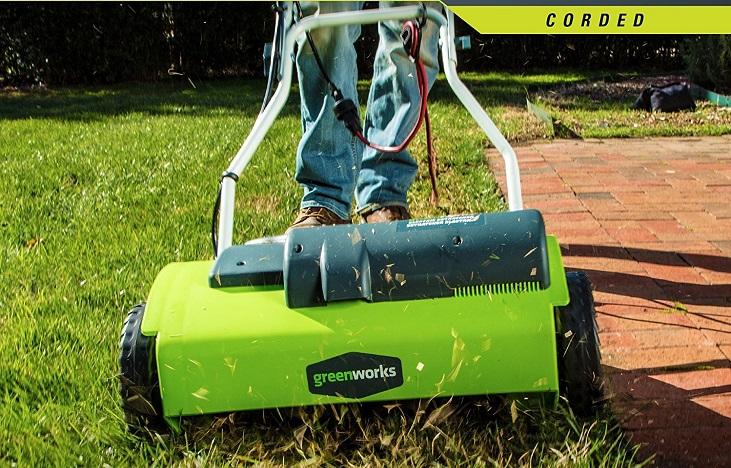 Greenworks 14 Inch 10 Amp Corded Dethatcher
