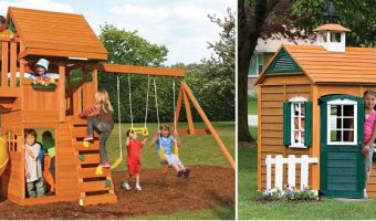 Select Outdoor Playhouses and Playsets Starting At $239.24 Today Only