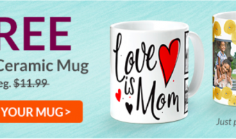Free Custom Coffee Mug ($11.99 Value!)