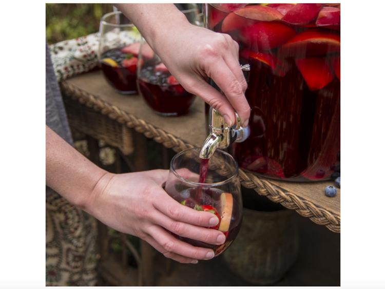 glas jar for drinks