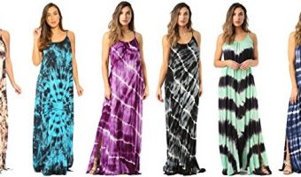 Tie Dye Spaghetti Strap Maxi Dresses As Low As $16.98 Today Only