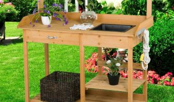 Solid Wood Potting Bench with Sink $65.59 (reg. $81.99)