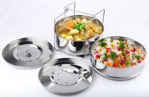 Stack N' Cook Instant Pot Steamer Insert Pans with Sling