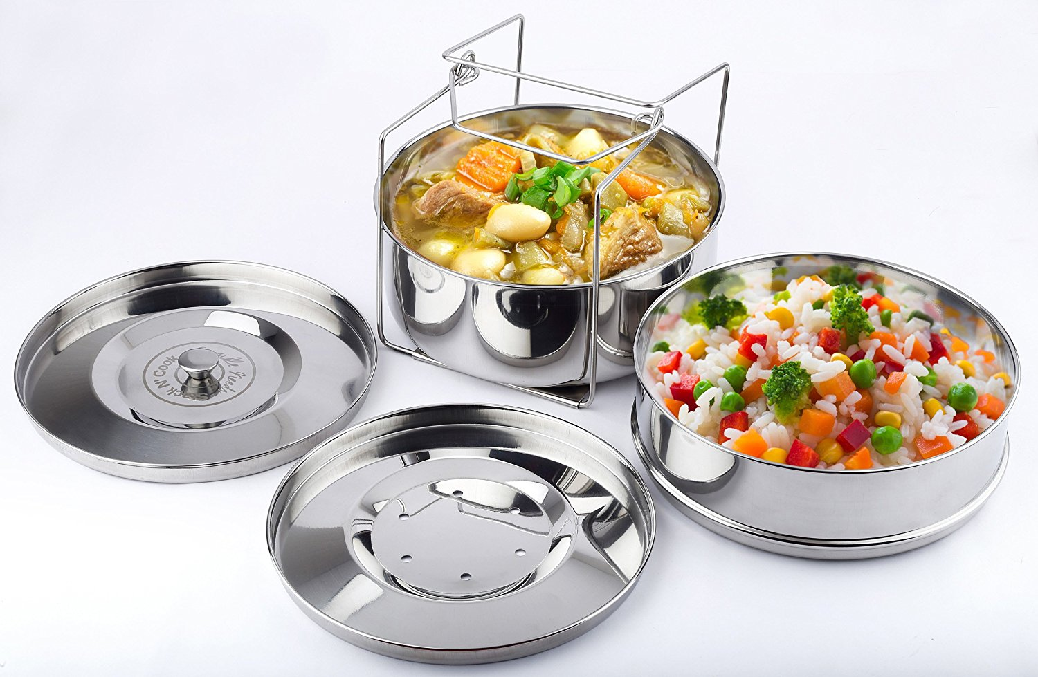Stack N Cook Instant Pot Steamer Insert Pans With Sling