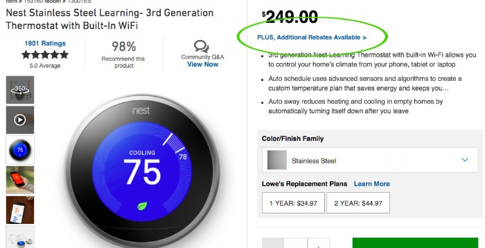 Finding the Nest Thermostat best price isn't hard when you look for the rebates!