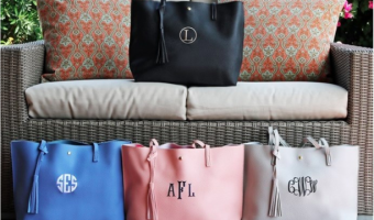 Personalized Tassel Totes ONLY $13.99!