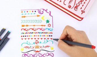 18ct. Assorted Colors Fineliner Marker Pens $6.99 (reg. $15)