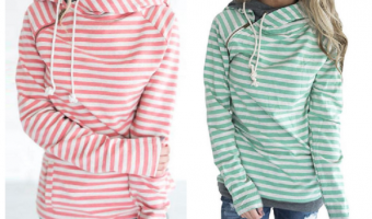 Women's Striped Hoodies Ship for $22.99