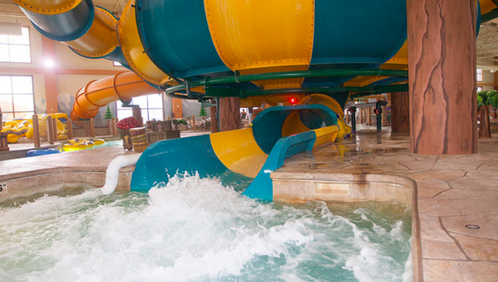 The water slides at Great Wolf Lodge hotels are so much fun!