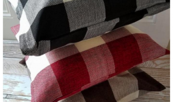 Farmhouse Plaid Pillow Covers Only $7.99