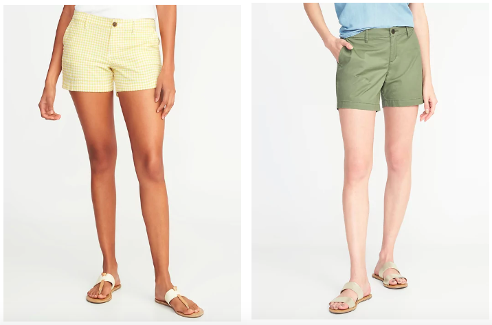 shorts on women from old navy