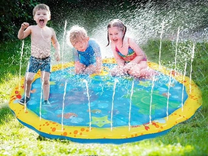 GoFloats Alayna 54in-Diameter Sprinkle and Splash Play Mat