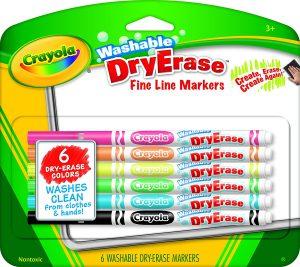 Crayola Fine Line Washable Dry Erase Markers