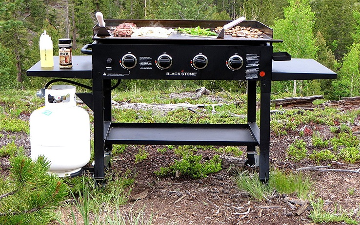 Outdoor Flat Top Gas Grill Station