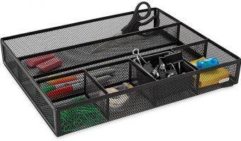 Rolodex Deep Metal Mesh Desk Drawer Organizer $9.34