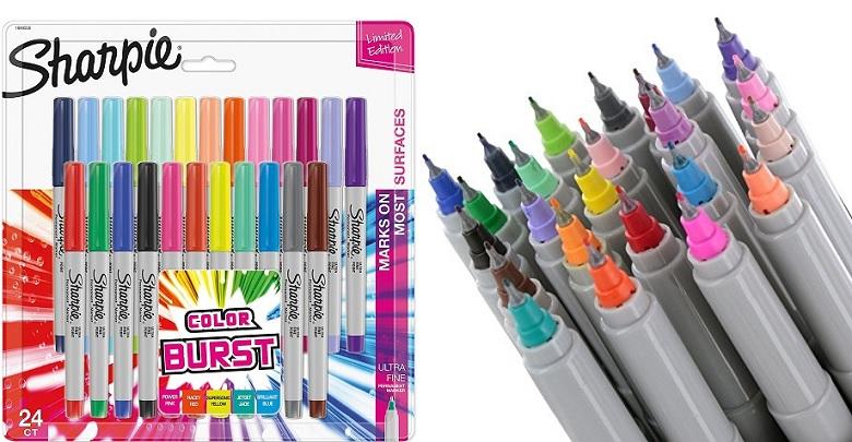Sharpie Color Burst 24-Count Permanent Markers