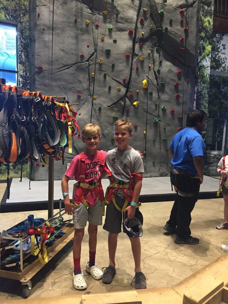 boys at rock wall