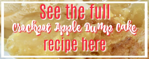 The best crockpot apple dump cake recipe