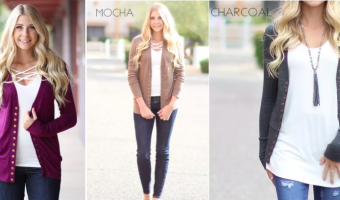 Long Sleeve Snap Cardigans ONLY $12.99 Each!