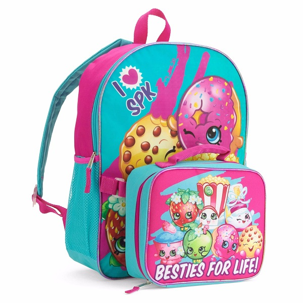 Shopkins Besties for Life Backpack with Lunch bag