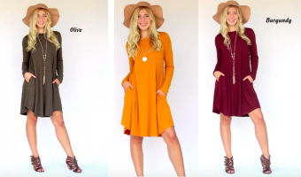 Fall Easy Pocket Dresses Only $15.99 Each