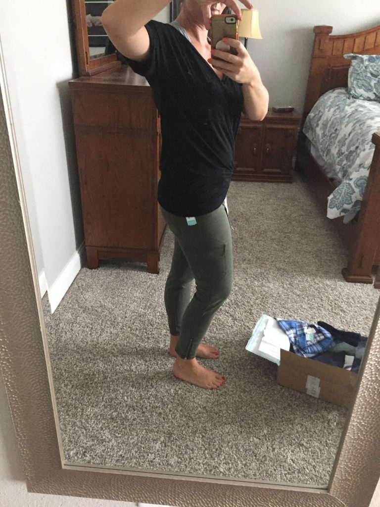 Thsi was one of my favorite Stitch Fix reviews because I loves the green pants!