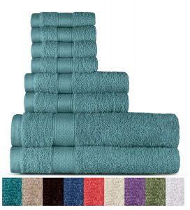 100% Cotton 8 Piece Towel Set