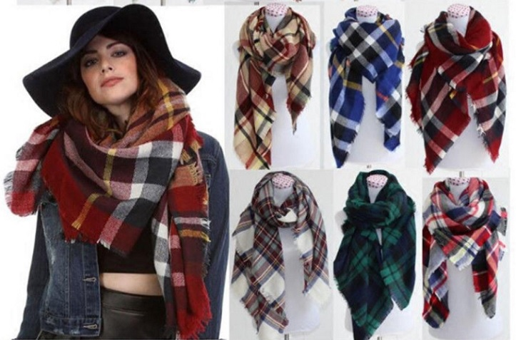 Women's Large Tartan Blanket Shawls Starting At $8.99