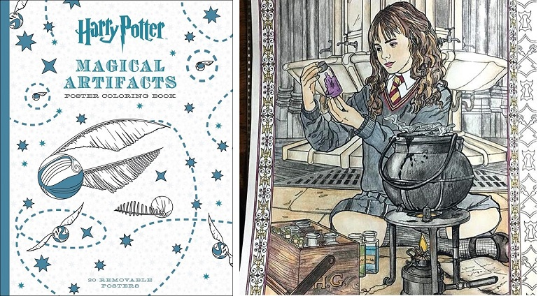 Harry Potter Magical Artifacts Poster Coloring Book $10.39 ...