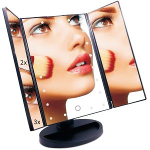 Lighted Makeup Mirror With Magnifying Touch Screen