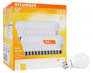 Sylvania 24 Pack 60w Equivalent Led Light Bulbs 27 79