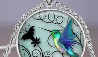 Blue Hummingbird Pendant Necklace $1.68