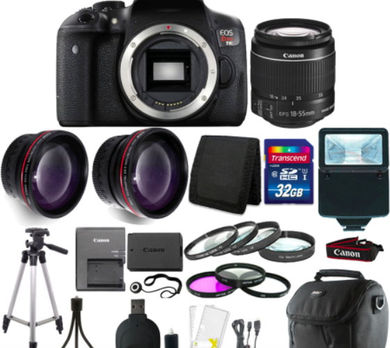 Canon EOS Rebel T6 DSLR Camera Bundle ONLY $397.26!
