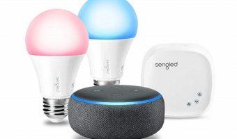 Echo Dot with Sengled Color Smart Lighting Kit Bundle $79.98 (reg $129.98)