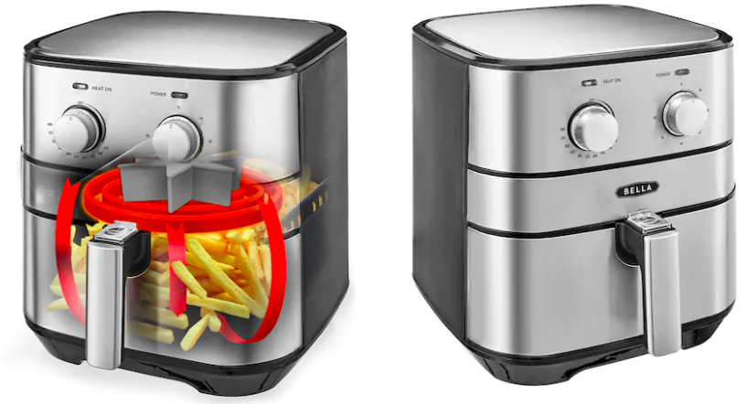 Bella 5.3-qt. Stainless Steel Air Fryer Only $44.49 (Reg. $119.99)