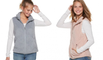 Juniors' SO® Sherpa Vests ONLY $12.74!