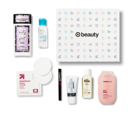box of free samples from target