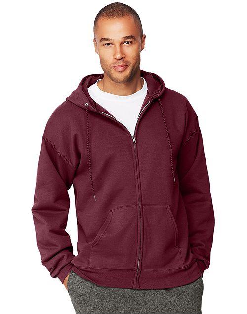 42742930 Great Low Price On Hanes Men's Full-Zip EcoSmart Fleece Hoodie -