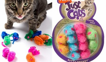 12-pack Hartz Catnip Mice $2.99 (reg. $6.19)