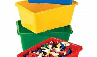 Great Deal on Set of 4 Tot Tutors Kids' Small Storage Bins