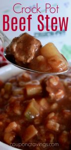 crock pot beef stew in red for pinterest