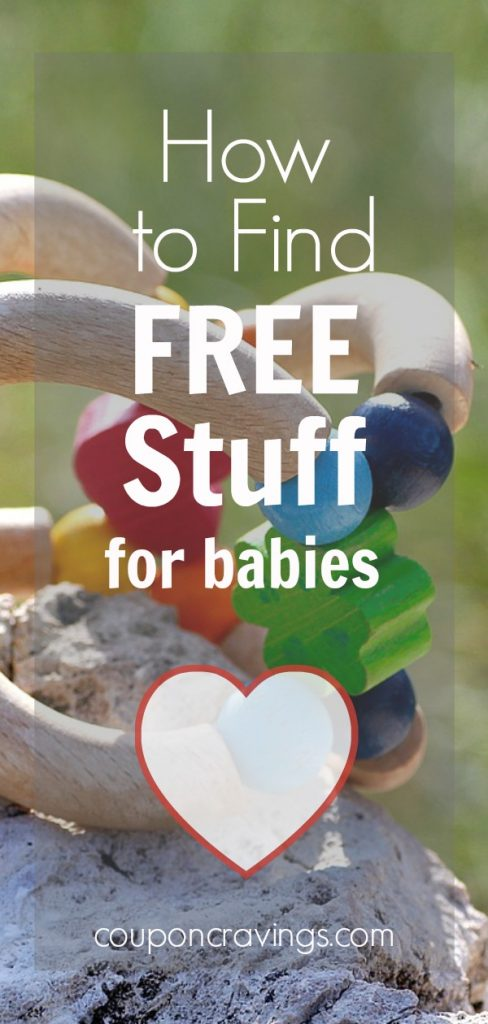 Article about how to get free stuff for new moms, for kids and more. Toy in the background.